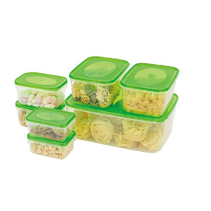 14 PCS RECTANGLE FOOD CONTAINER  - STORAGE_FK_14PC