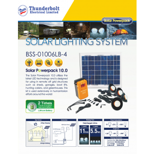 T-BOLT SOLAR HOME LIGHTING SYSTEM - BSS-01006LB-4