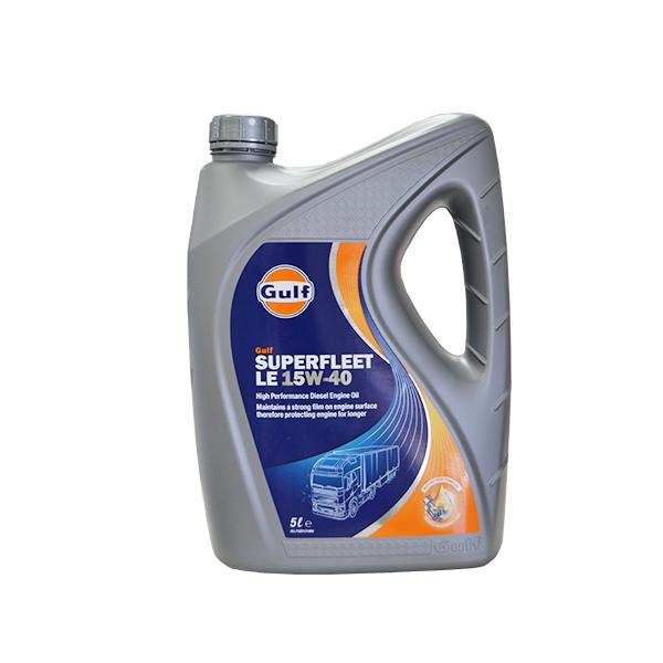 GULF DIESEL ENGINE OIL SUPERFLEET LE15W40 - 5 LTR